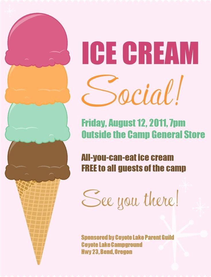 Ice Cream social Flyer Template Free Best Of 17 Best Images About Pta Ideas On Pinterest