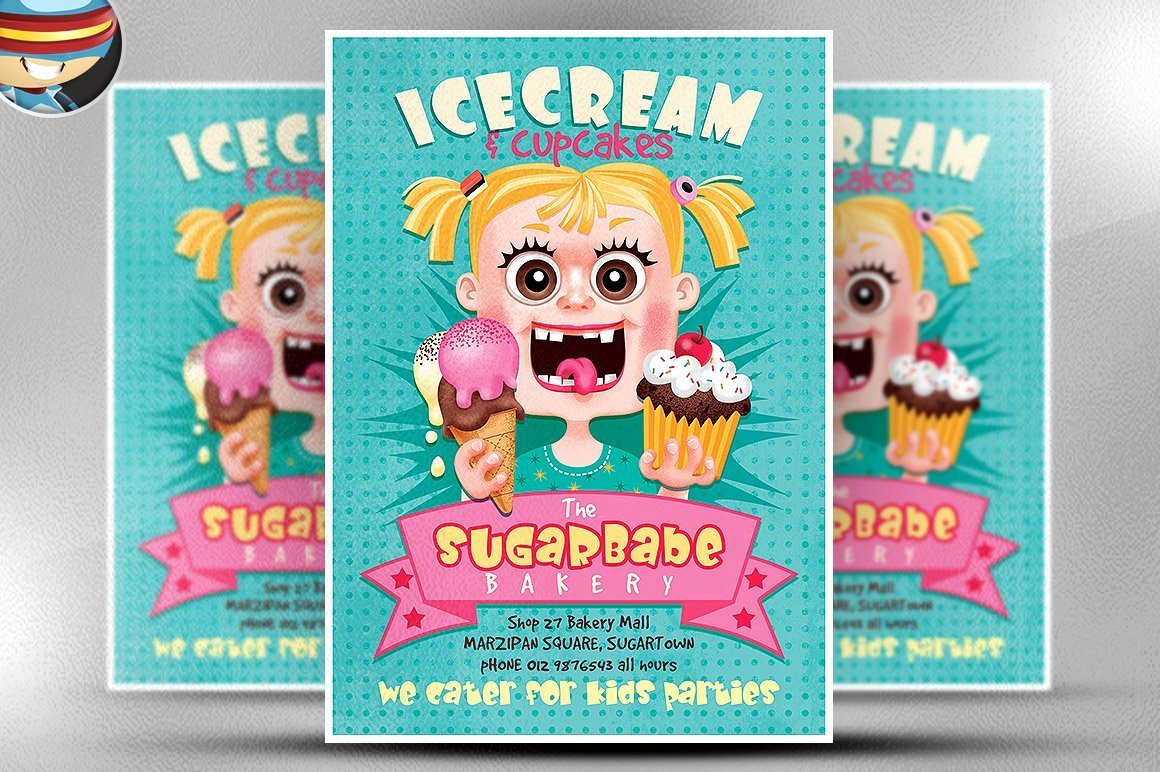 Ice Cream social Flyer Template Free Best Of Ice Cream Cup Cakes Flyer Template Flyer Templates