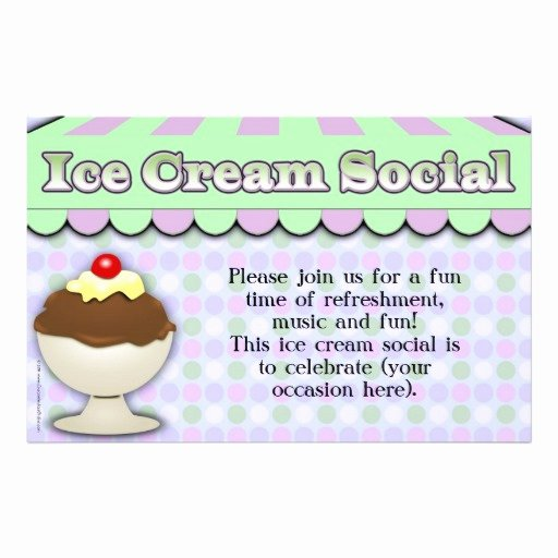 Ice Cream social Flyer Template Free Luxury Ice Cream social Purple Green Stripe Sundae Flyer Design