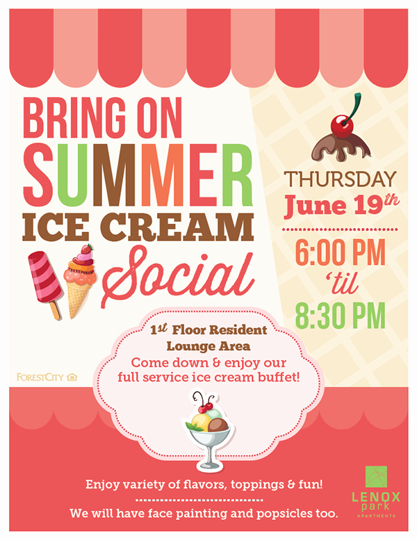 Ice Cream social Flyer Template Free New Day to Day Work