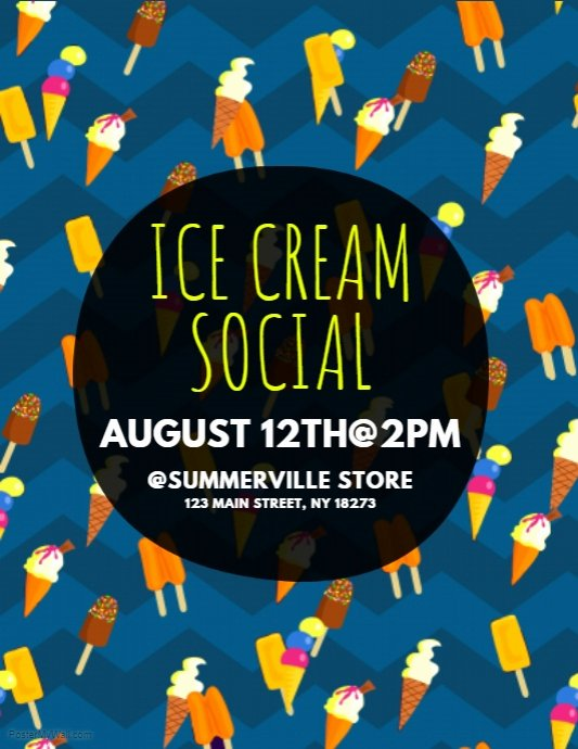 Ice Cream social Flyer Template Free Unique Copy Of Ice Cream social Flyer