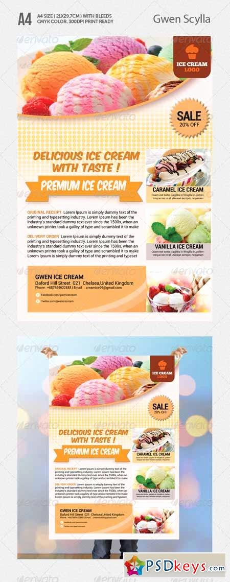 Ice Cream social Flyer Template Lovely Ice Cream Flyer Templates Free Download