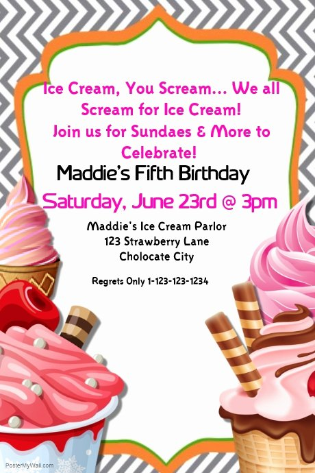 Ice Cream social Flyer Template New Postermywall