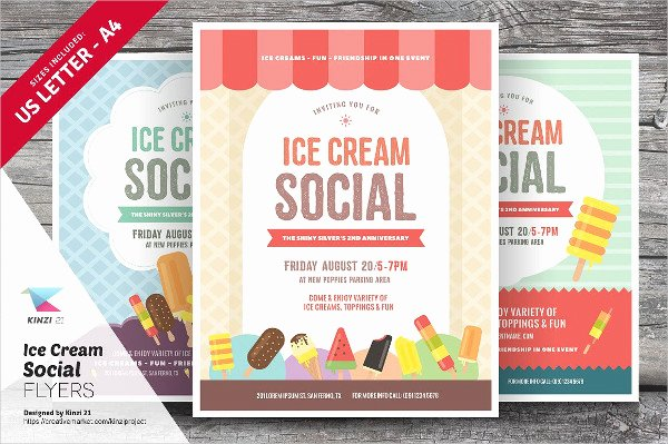 Ice Cream social Flyer Template Unique 41 Ice Cream Flyer Templates Free & Premium Download