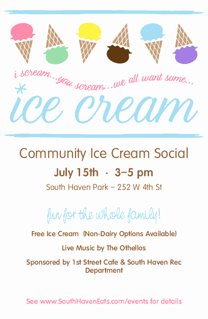 Ice Cream social Flyer Template Unique Ice Cream social Flyer