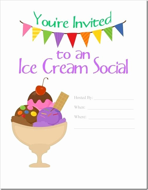 Ice Cream social Invite Template Awesome 7 Best Images About Work events On Pinterest