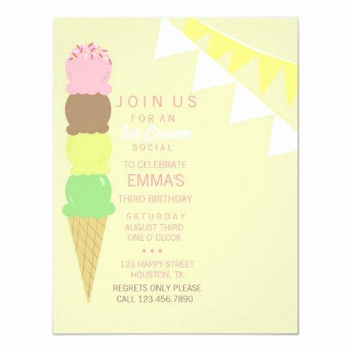 Ice Cream social Invite Template Awesome Ice Cream social Party Invitation
