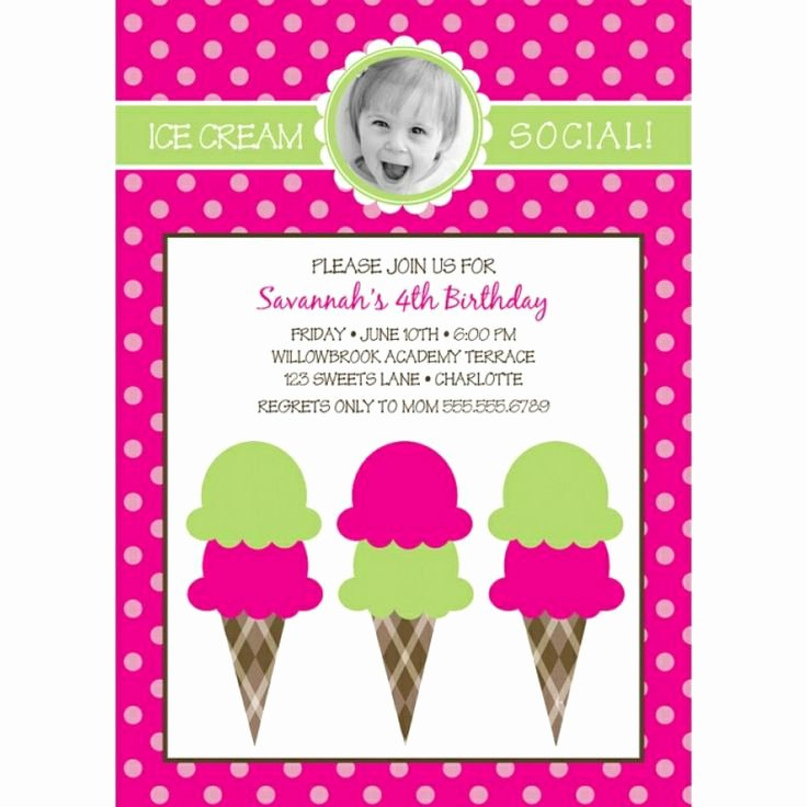 Ice Cream social Invite Template Beautiful 15 Best Invitation Template Images On Pinterest