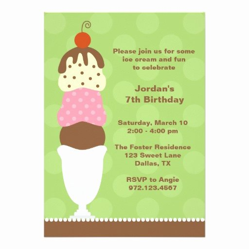 Ice Cream social Invite Template Best Of Ice Cream Party Invitation Card