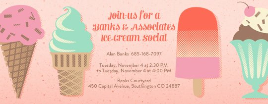 Ice Cream social Invite Template Best Of Invitations Free Ecards and Party Planning Ideas From Evite