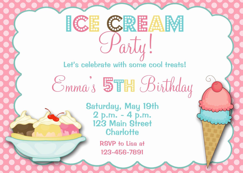 Ice Cream social Invite Template Elegant Downloadable Ice Cream social Invitations