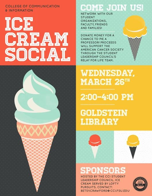 Ice Cream social Invite Template Fresh Flyers Ice Cream social and Ice On Pinterest