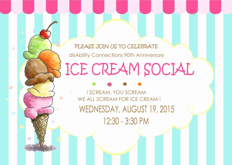 Ice Cream social Invite Template Inspirational Ice Cream social Invitation Hashtag Bg