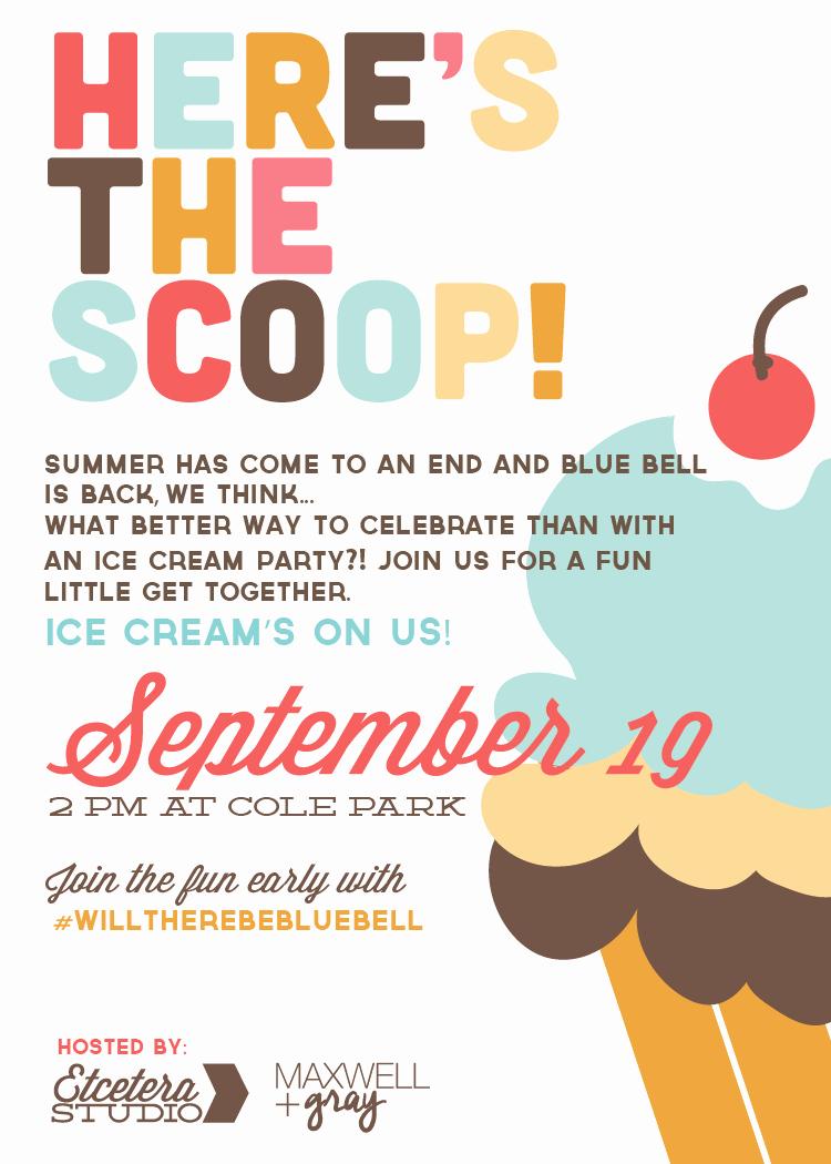 Ice Cream social Invite Template New Design