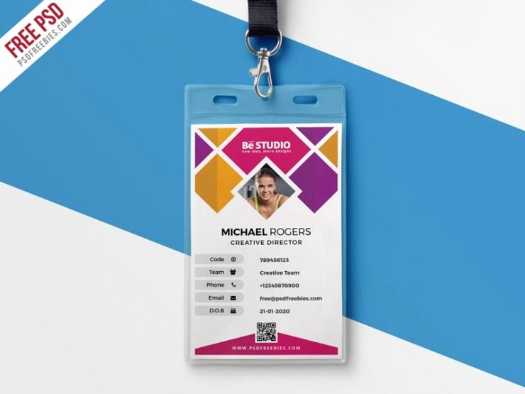 Id Card Template Photoshop Awesome Creative Fice Id Card Template Psd Download Psd