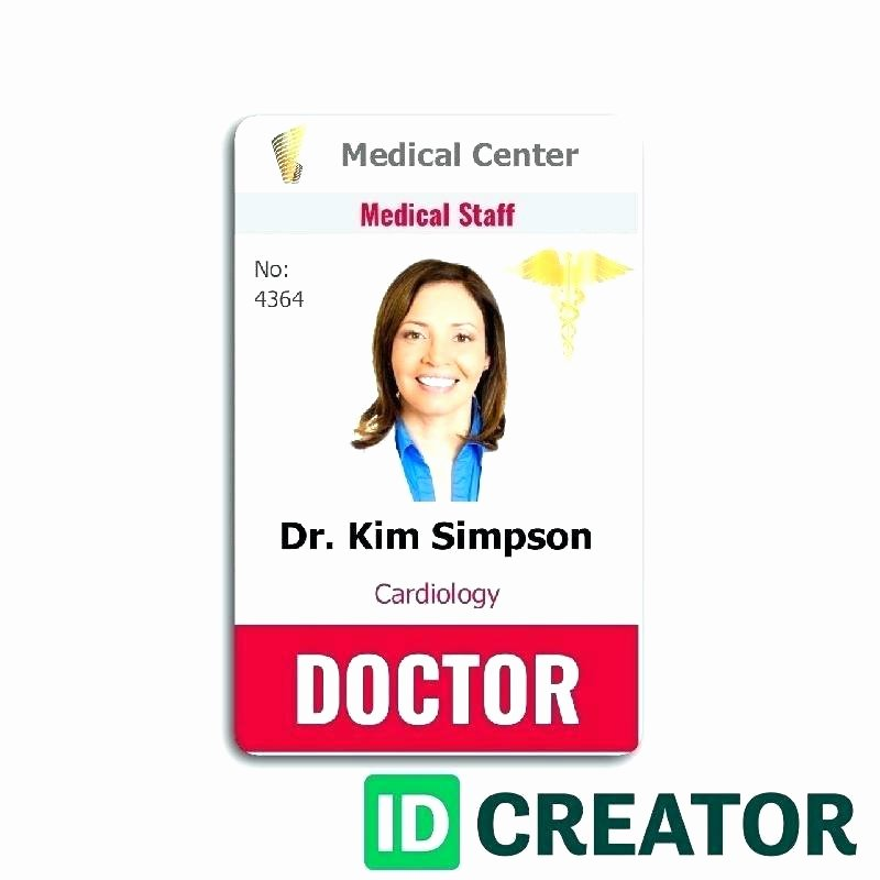 Id Card Template Photoshop Beautiful Employee Id Card Template Badge Shop