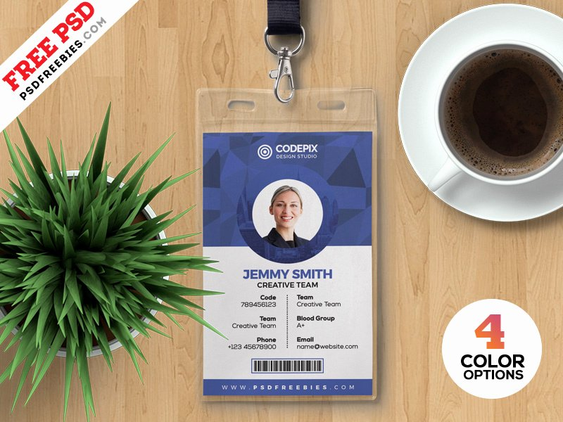 Id Card Template Photoshop New Psd Fice Identity Card Templates by Psd Freebies