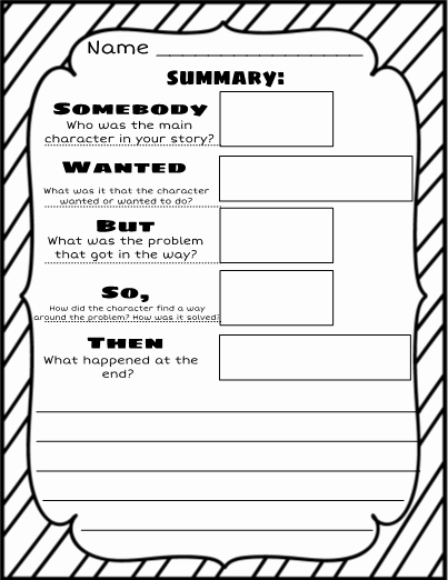 If then Chart Template Beautiful Swbst somebody Wanted but so then Graphic organizer