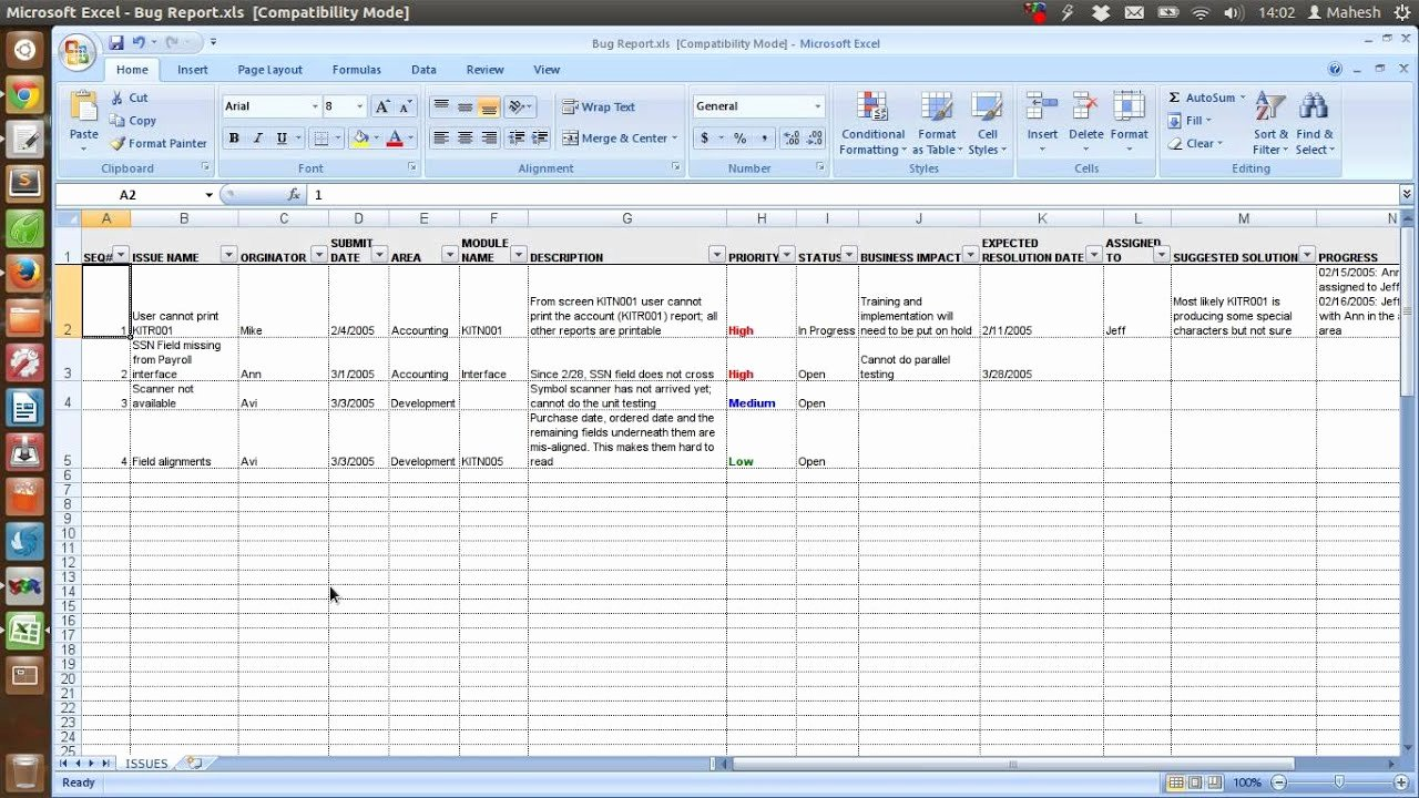 Incident Report Log Template Beautiful Defect Tracking Template Xls