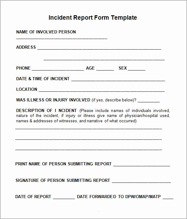 Incident Report Log Template Best Of the 25 Best Incident Report form Ideas On Pinterest