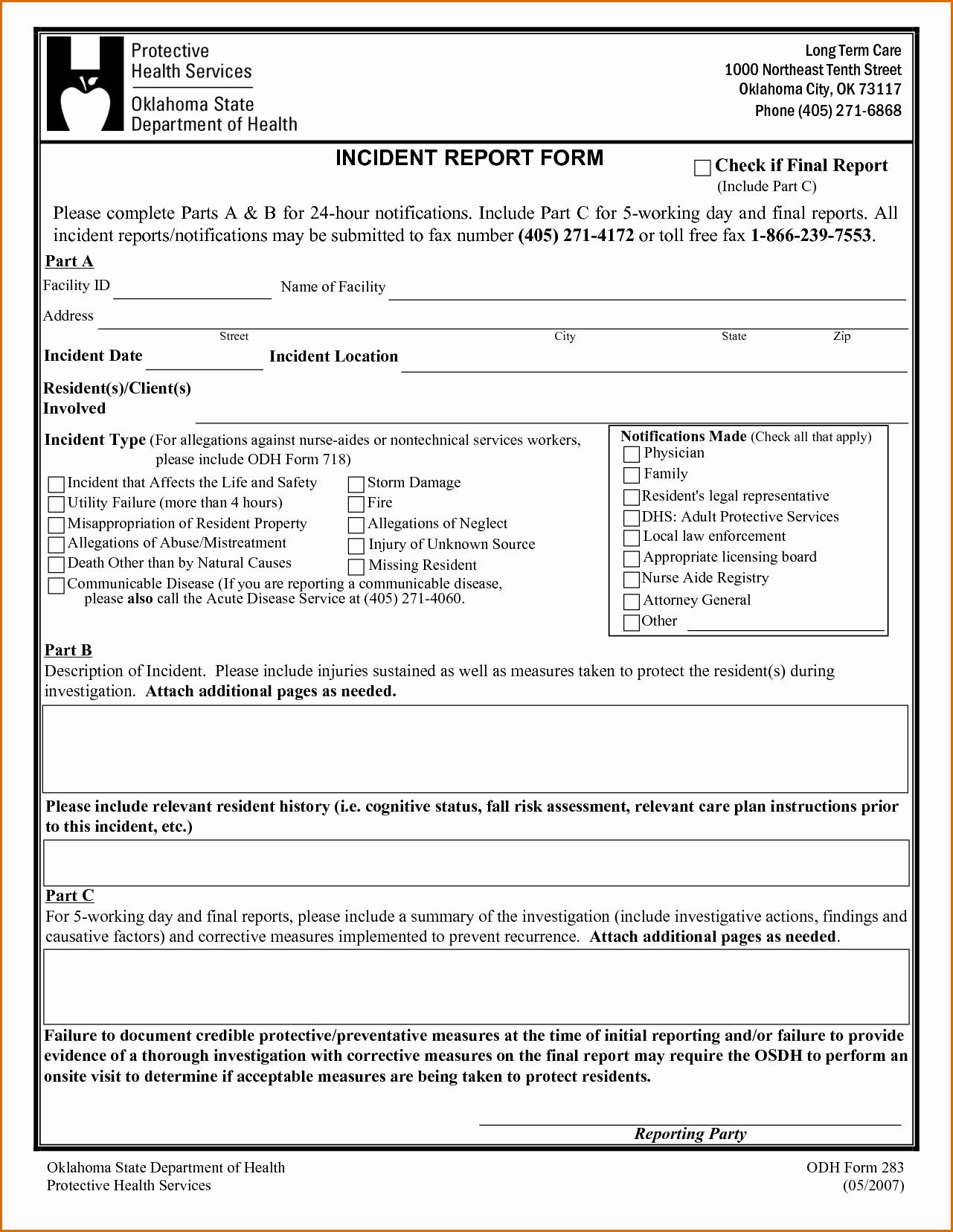 Incident Report Log Template Elegant 5 Incident Report Template