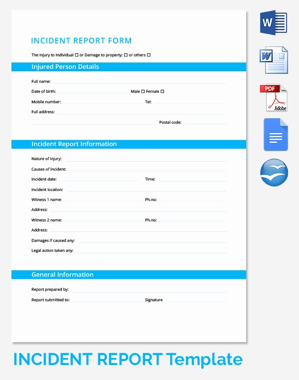 Incident Report Log Template Inspirational 23 Of First Aid Log Template Microsoft
