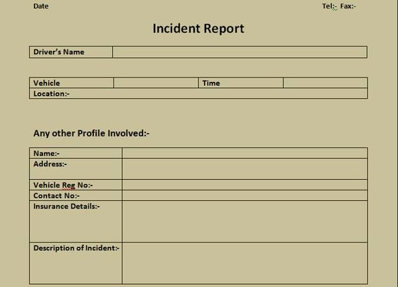 Incident Report Log Template Inspirational Get Incident Report form Excel Template