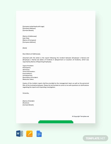 Incident Statement Letter Sample Beautiful 6 Incident Report Letter Examples Pdf