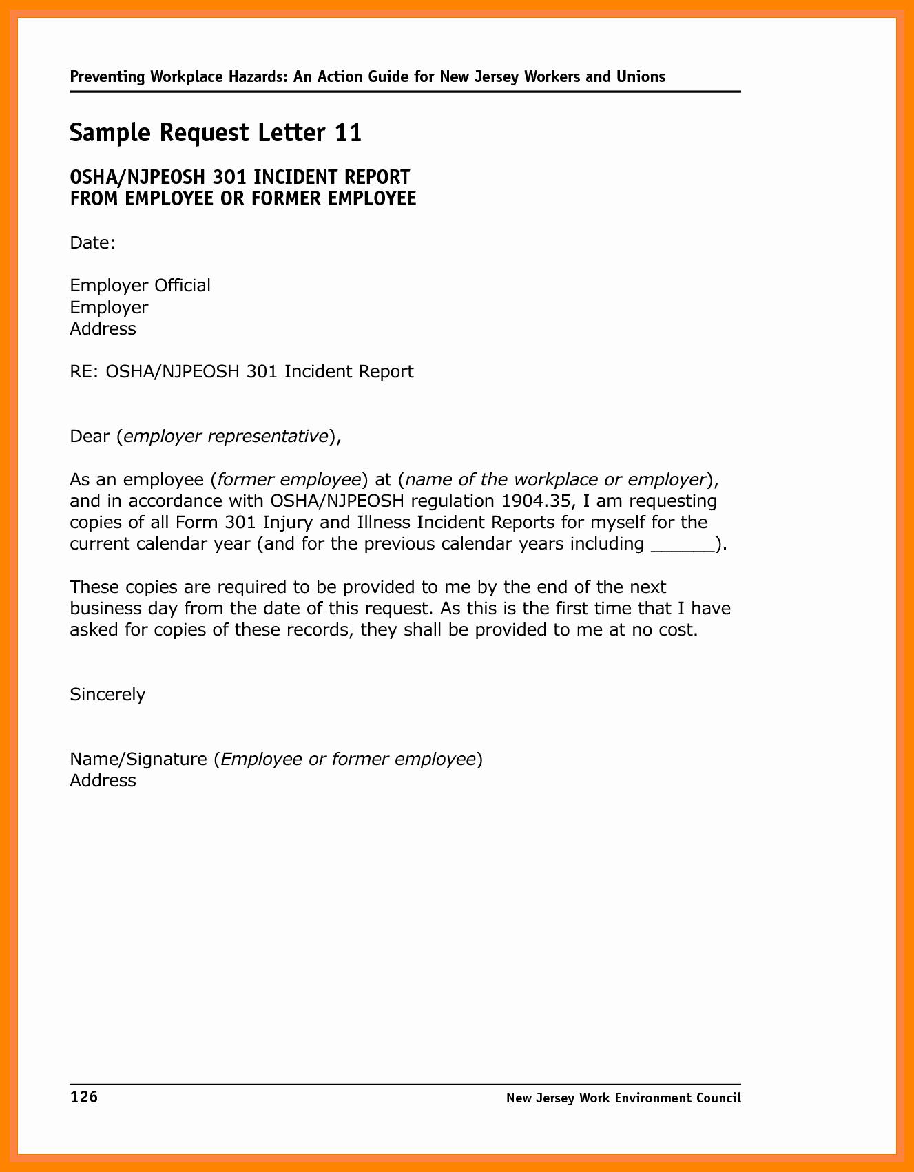 Incident Statement Letter Sample Elegant 6 Incident Report Letter Examples Pdf
