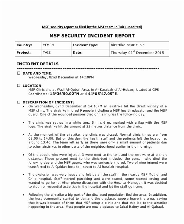 Incident Statement Letter Sample Fresh Incident Report Sample In Nursing 7 – New Pany Driver