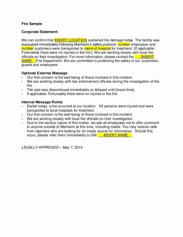 Incident Statement Letter Sample Unique John Heid Writing Samples Incident Response Writing Samples