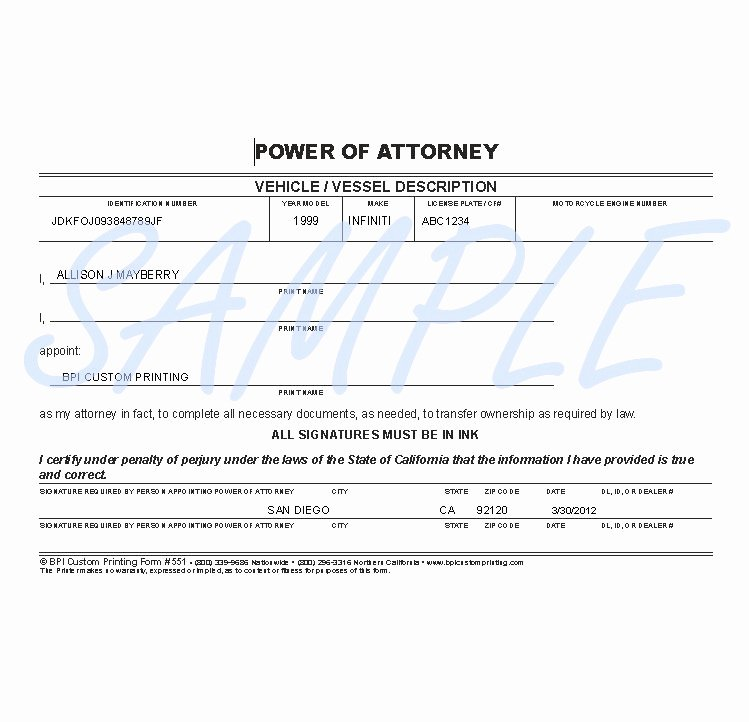 Indiana Bmv Power Of attorney Beautiful Ohio Bureau Motor Vehicles Power attorney form