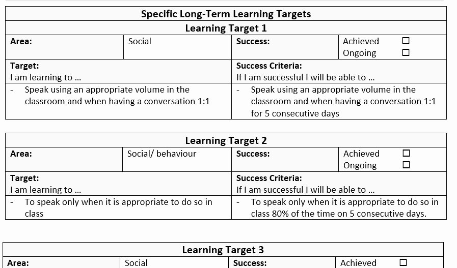 Individual Learning Plan Template Lovely Individual Education Plan Template Sample – Mash