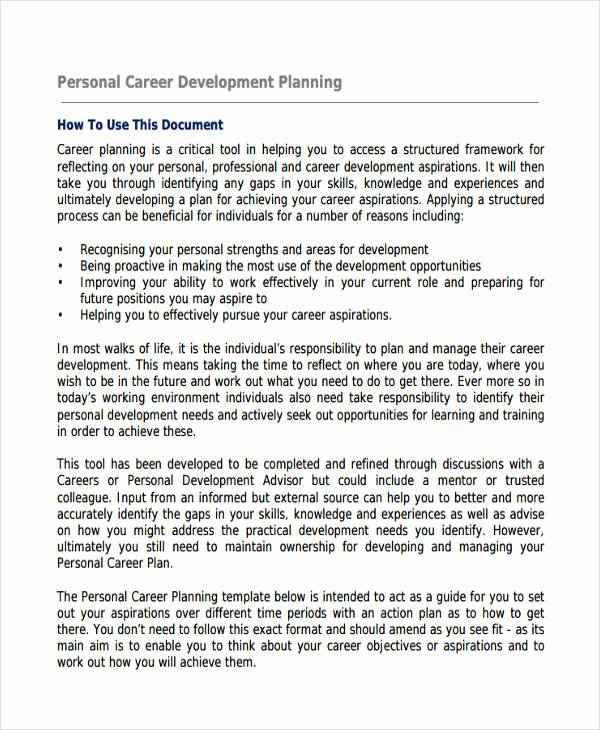 Individual Professional Development Plan Sample Awesome 58 Development Plan Examples & Samples Pdf Word Pages