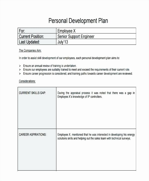 Individual Professional Development Plan Sample Awesome Sample Employee Development Plan Template – Taraisoftware