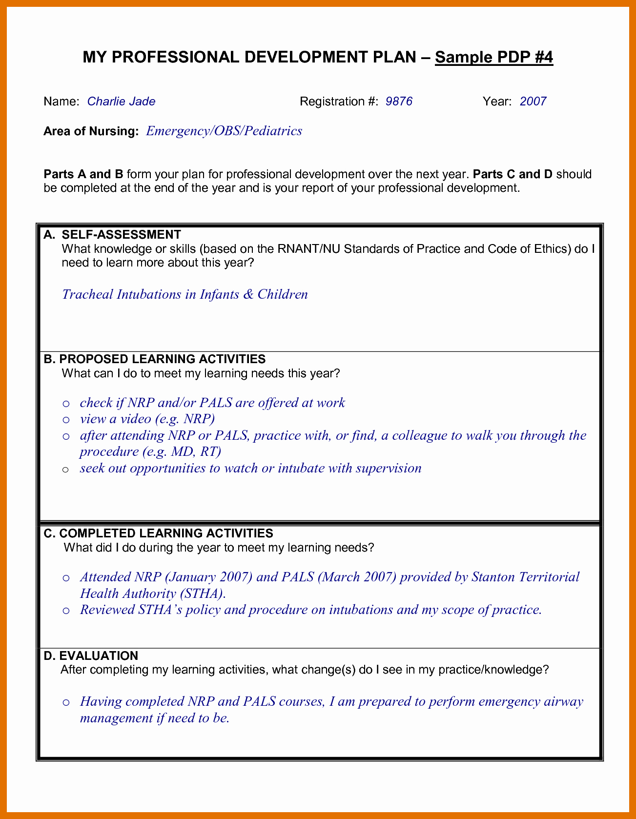 Individual Professional Development Plan Sample Best Of 4 5 Professional Development Proposal Sample