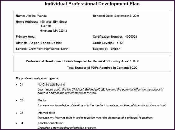 Individual Professional Development Plan Sample Lovely Print An Individual Professional Development Plan