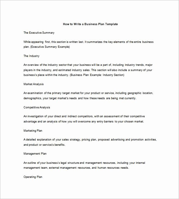 Industry Analysis Sample Unique Business Plan Outline Template 7 Free Word Excel Pdf