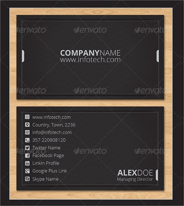 Info Card Template Best Of 18 Information Technology Business Cards Free Psd Ai