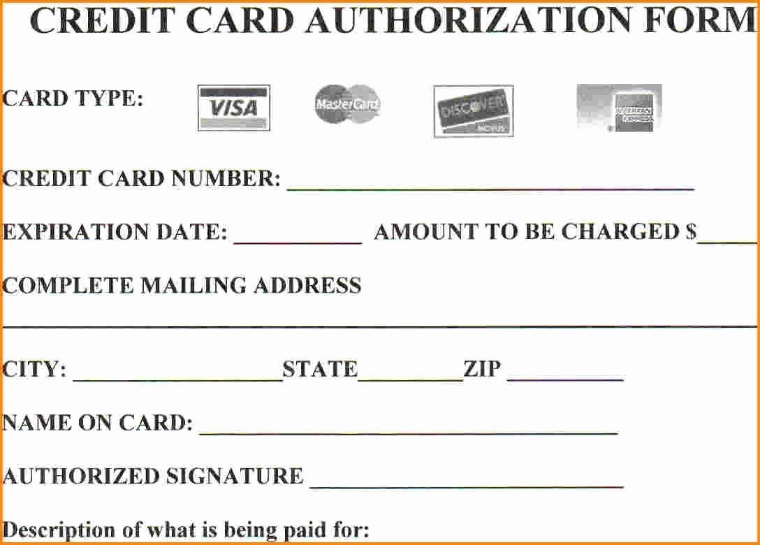 Info Card Template Best Of Looking to Credit Card Authorization form then