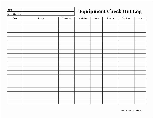 Inspection Log Template Best Of Free Easy Copy Detailed Equipment Check Out Wide From