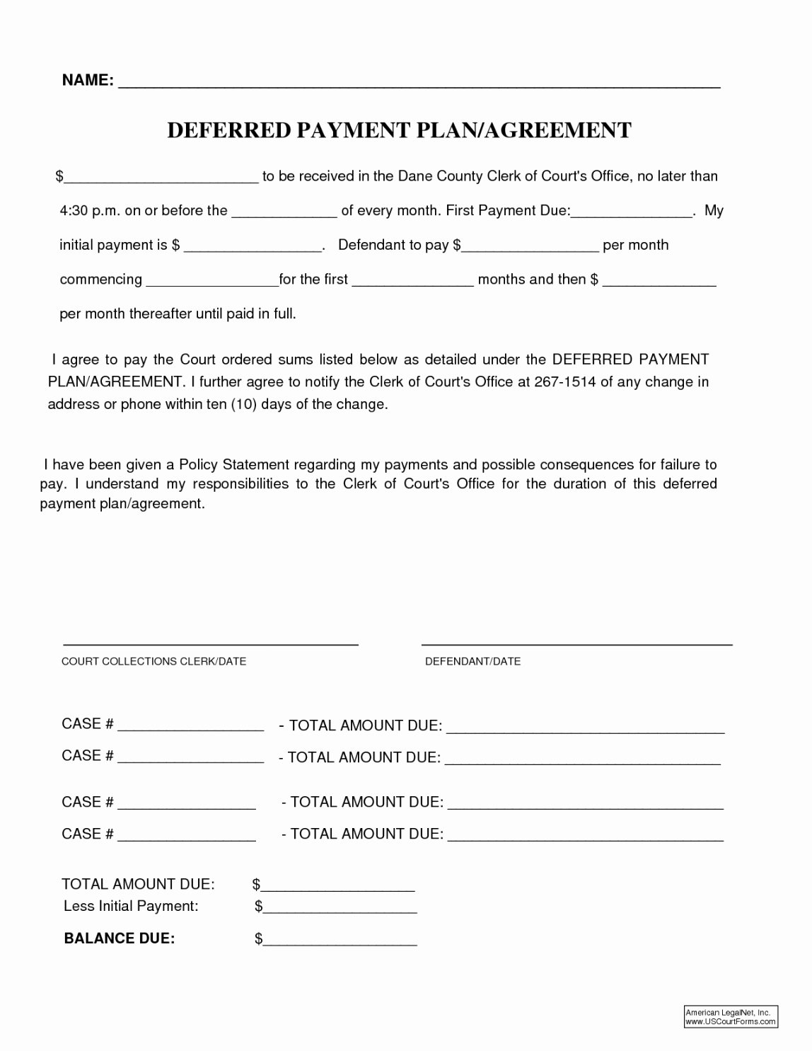 Installment Payment Plan Agreement Template Elegant Payment Plan forms Templates