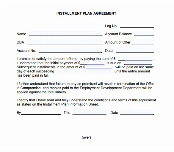Installment Payment Plan Agreement Template Inspirational Payment Plan Agreement Template – 21 Free Word Pdf