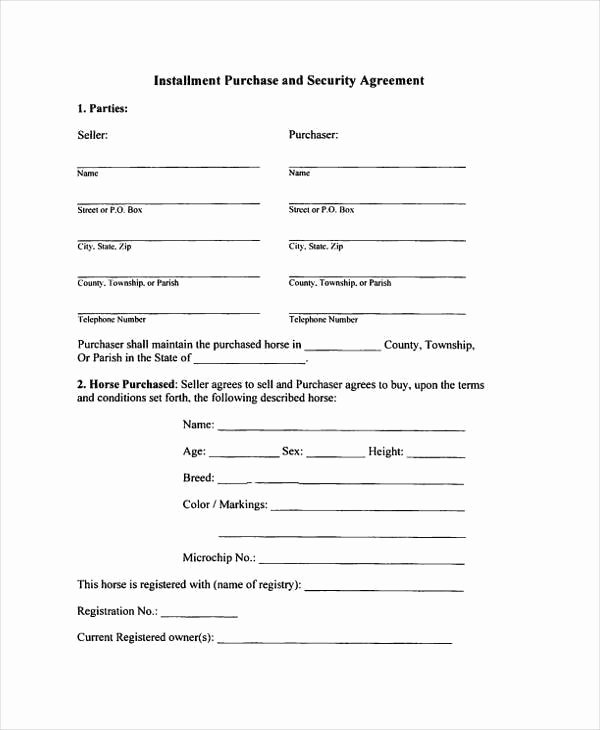 Installment Payment Plan Agreement Template Lovely 8 Installment Agreement Sample forms Free Sample