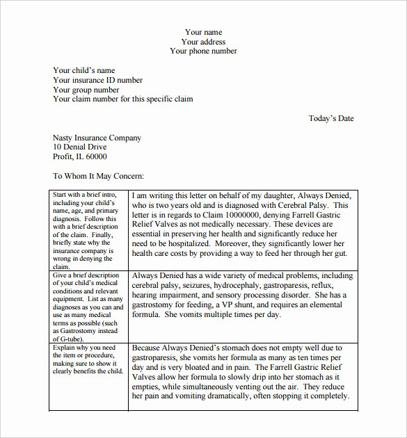 Insurance Denial Letter Template Beautiful 18 Appeal Letter Templates Pdf Doc