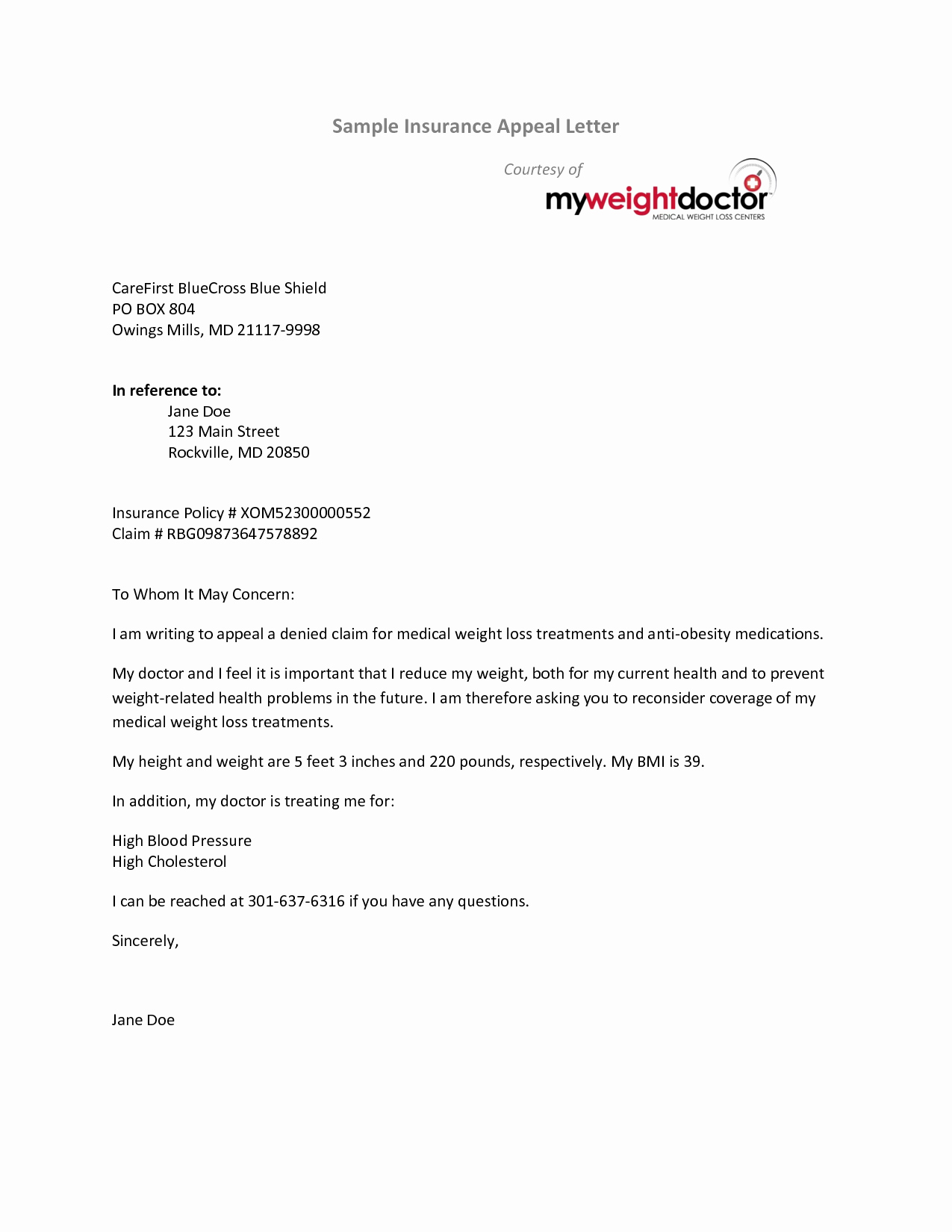 Insurance Denial Letter Template Best Of Best S Of Medical Appeal Letters Examples Medical