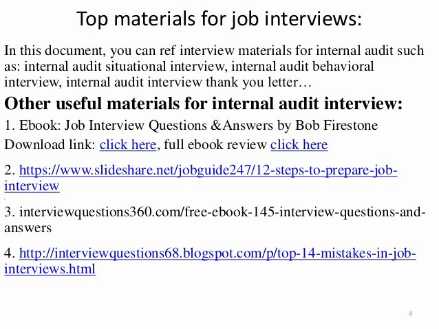 Internal Auditor Interview Questions Unique top 25 Internal Audit Interview Questions Answers Pdf