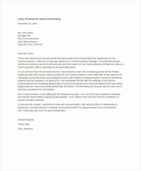Internal Job Posting Email Template Unique How to Write A Letter Of Interest for A Job