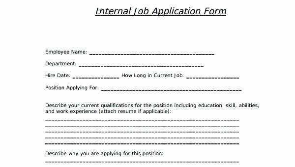 Internal Job Posting Template Unique Internal Job Application form Template – Cryptomicefo