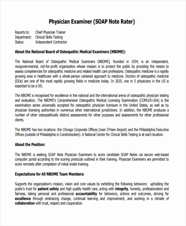 Internal Medicine Progress Note Template New 14 soap Note Examples Pdf